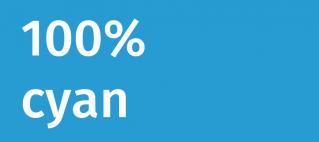 100% cyan kommt