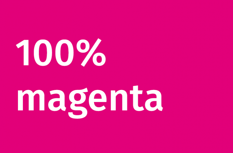 100% magenta kommt